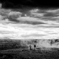 Iceland Black And White Landscape Haukadalur by Matthias Hauser