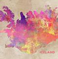 Iceland Map by Justyna JBJart