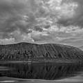 Iceland Mountain Reflections Bw by Michael Ver Sprill