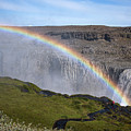 Iceland Rainbow Waterfall by Dave Dilli