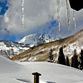 Icicles In East Vail by David Salter