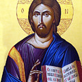 Icon Of Christ In Jericho by Munir Alawi