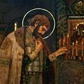 Icon Of Reverend Prince Alexander Nevsky. Saint Petersburg by David Lyons