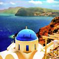 Iconic Anastaseos Oia Santorini Greece by Bob Lentz