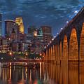 Iconic Minneapolis Stone Arch Bridge by Wayne Moran