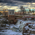 Icy Falls by Frank Thuringer