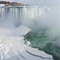 Icy Fury - Niagara Falls Spectacular Ice Buildup by Georgia Mizuleva