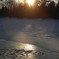 Icy Sunrise Reflection by Kent Lorentzen