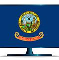 Idaho Flag Tv by Bigalbaloo Stock