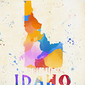 Idaho Watercolor Map by Dan Sproul