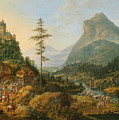Idealized River Landscape With A Hunting Party by MotionAge Designs
