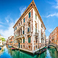 Idyllic Canal In Venice by JR Photography