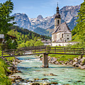 Idyllic Church In The Alps by JR Photography