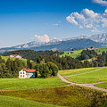 Idyllic Landscape In The Alps, Appenzellerland, Switzerland by JR Photography