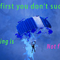 If At First You Don't Succeed, Skydiving's Not For You. by Humorous Quotes