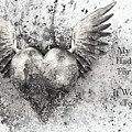 If My Heart Had Wings For Flying Black White Silver by Isabella Howard