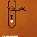 If Opportunity Doesnt Knock, Build A Door Corporate Start-up Quotes Poster by Lab No 4