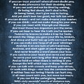 If Poem Blue Canvas by Dan Sproul