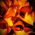 If Van Gogh Painted Calla Lilies by Margaux Dreamaginations