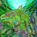 Iguana Cool by Carol Cavalaris