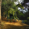 Iguanodon In The Jungle by Frank Wilson