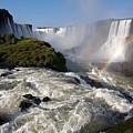 Iguassu Falls With Rainbow by Aivar Mikko