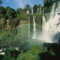 Iguazu Waterfalls With A Rainbow by Roy Toft