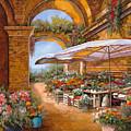 Il Mercato Sotto I Portici by Guido Borelli