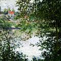 Ile De La Grande Jatte Through The Trees by Claude Monet