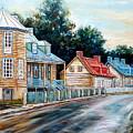 Ile D'orleans Quebec Street Scene by Carole Spandau