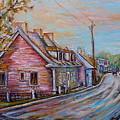 Iles D'orleans Quebec Village Scene by Carole Spandau