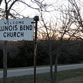 Illinois Bend Church Sign by Amy Hosp
