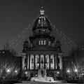 Illinois State Capitol B W by Steve Gadomski