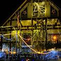 Illuminated Christmas-house by Eva-Maria Di Bella