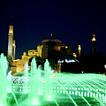 Illuminated Fountain Of Istanbul by Rachel Morrison