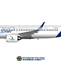 Illustration Of Airbus A320 Neo F-wneo by Steve H Clark Photography