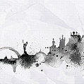 Illustration Of City Skyline - Kiev In Chinese Ink by Don Kuing