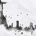 Illustration Of City Skyline - Rio De Janeiro In Chinese Ink by Don Kuing