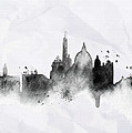 Illustration Of City Skyline - Rome In Chinese Ink by Don Kuing