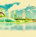 Illustration Of Singapore In Watercolour by Don Kuing