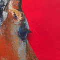 Impala On Crimson Close-up by Karen Macek