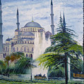 Imperial Sultanahmet Mosque Istanbul Turkey 2006  by Enver Larney
