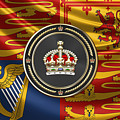 Imperial Tudor Crown Over Royal Standard Of The United Kingdom by Serge Averbukh
