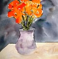 Impression Of Flowers by Larry Hamilton