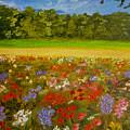 Impressionism Flowers- Pretty Posies by Kathy  Symonds