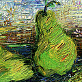 Impressionism Green Pairs Oil Painting by Ginette Callaway