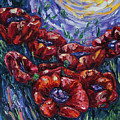 Impressionist Field Poppies by OLena Art Brand