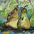 Impressionist Trois Poires Oil Painting by Ginette Callaway