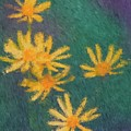 Impressionist Yellow Wildflowers by Smilin Eyes  Treasures
