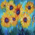 Impressionistic Sunflowers by OLena Art Brand